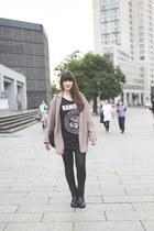 black Zara boots - black Primark shirt