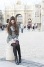 Black-clarks-shoes-heather-gray-misterlady-sweater