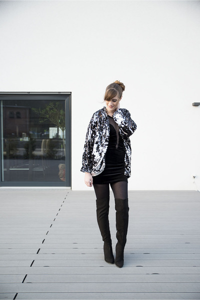 black MinkPink jacket - black H&M boots