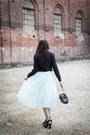 Light-blue-h-m-skirt-dark-gray-h-m-blouse
