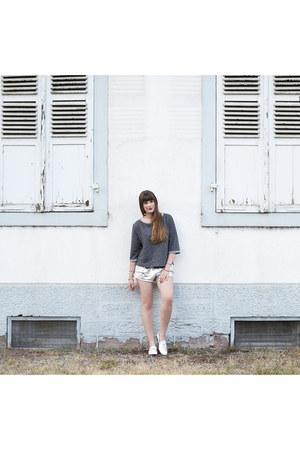 silver Adidas shorts