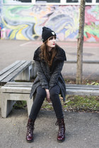 gray Bershka coat - black Das Goldene Taxi hat