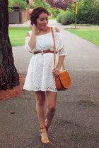 white VESSOS dress - tawny VESSOS bag