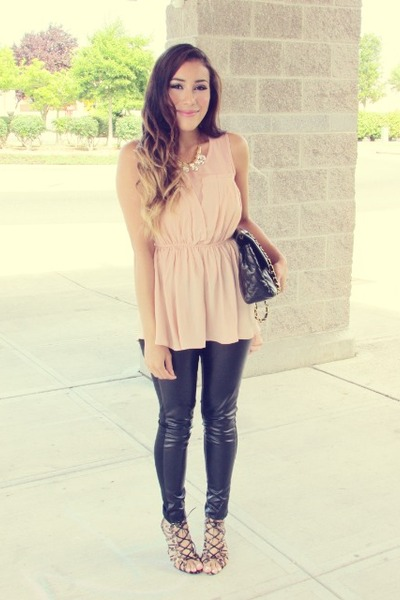 light pink PERSUNMALL dress - PERSUNMALL necklace