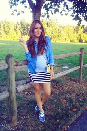black material girl skirt - blue Charlotte Russe sneakers