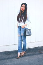 blue jeans - black Newchic bag - asos pumps