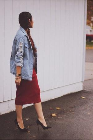 blue denim Sheinside jacket