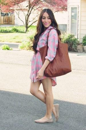 bubble gum Queen fashion shop shirt - tawny Queen fashion shop bag