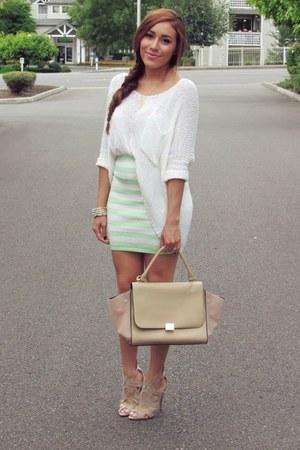 lime green AmiClubWear skirt - camel AmiClubWear heels