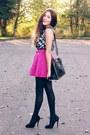 Hot-pink-oasap-skirt