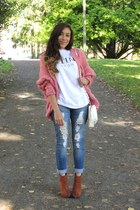 pink OASAP cardigan