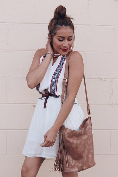 brown VioletRay bag - white Thmlclothing dress