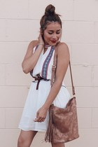 brown VioletRay bag - white Thmlclothing dress