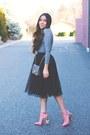 Silver-amiclubwear-bag-hot-pink-floral-asos-heels