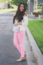 bubble gum Guess jeans - ivory Lovelywholesale sweater
