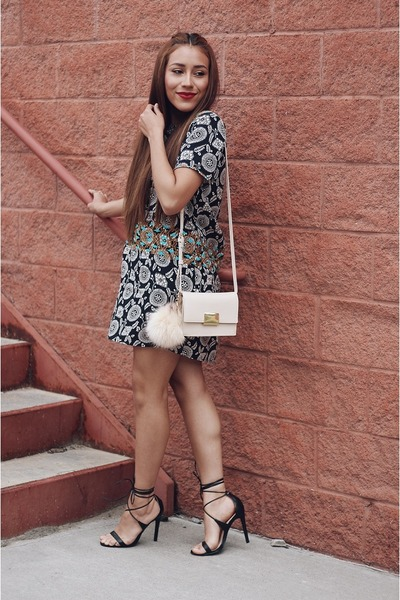 black Thmlclothing dress - eggshell Forever 21 bag