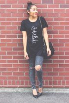 black NastyDress t-shirt - black Lovelywholesale heels