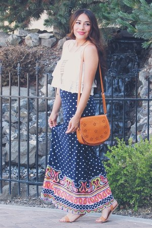 navy JCPenney skirt