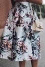 Ivory-forever-21-bag-silver-floral-print-sheinside-skirt