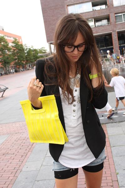 H&M purse - Zara blazer