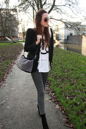 gray veromoda leggings