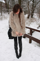 beige River Island coat