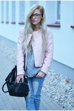 jacket - boots - jeans