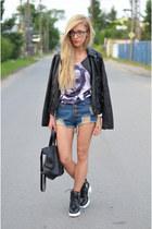 jacket - boots - shorts - top
