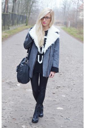 coat coat - boots - sweater