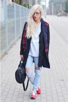 coat coat - boyfriend jeans jeans - top top