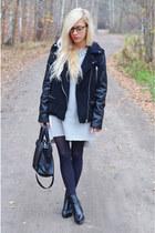 boots - dress - jacket