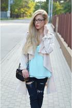 coat - jeans