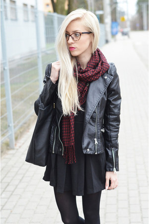 lbd dress - leather biker jacket