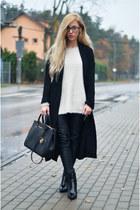 boots - coat - bag