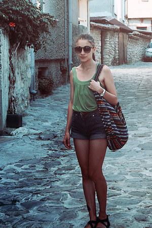 random bag - DIY shorts - Gabina sandals