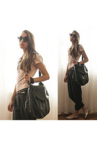 black leather Mango bag - oversized Marc by Marc Jacobs sunglasses