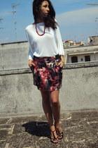 white benetton blouse - asos skirt - black Manas Lea Foscati heels