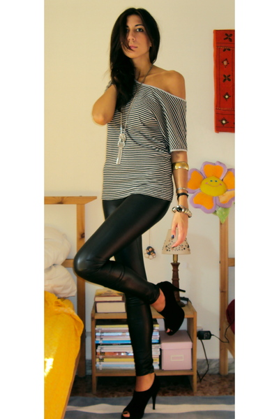 imperial leggings - Massimo Dutti t-shirt - cinti shoes - Accessorize necklace