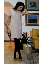 pink Zara dress - black Calzedonia tights - Miu Miu shoes - Accessorize earrings