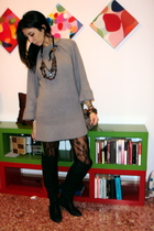 Zara dress - Massimo Dutti accessories - Calzedonia tights - Zara boots