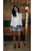 shirt - Pennyblack belt - Zara shorts - Zara shoes - Louis Vuitton purse