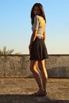 black Fred Perry t-shirt - Zara shoes - asos skirt