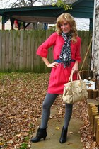 the gap dress - the sak purse - Steve Madden boots