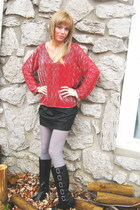 vintage top - michael antonia boots - Forever 21 skirt