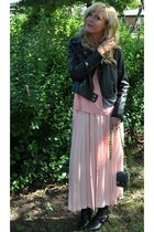 wetseal jacket - big buddha bag - vintage skirt