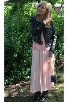 wetseal jacket - big buddha bag - vintage skirt