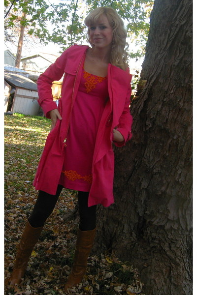 BCBG coat - Lily Pulitzer dress