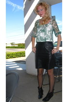 MSSP top - vintage skirt - Steve Madden shoes