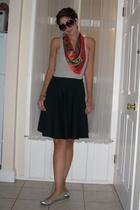 vintage scarf - Target shirt - Ross skirt - Target shoes