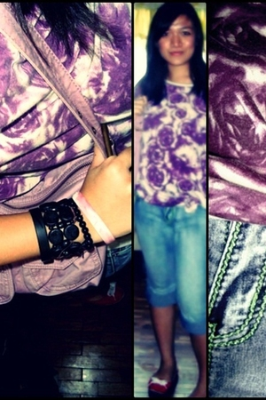 purple b  a b blouse - purple Gap accessories - red American Eagle shoes - blue